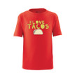 Apericots Funny I Love Tacos Kids Tee Shirt With Taco Design