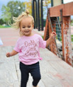 "Cute ""Daddy's Little Cowgirl"" Organic Short Sleeve Kids Tee"