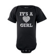 Apericots It's A Girl Heart Gender Reveal Short Sleeve Girls Baby Bodysuit