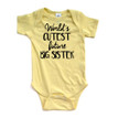 Apericots World's Cutest Future Big Sister Short Sleeve Baby Bodysuit