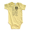 Apericots Love with Sugar Skull Design Cute Short Sleeve Baby Bodysuit