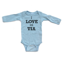 I Love Mi Tia Spanish My Aunt Cute Long Sleeve Baby Bodysuit