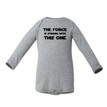 The Force is Strong With this One Funny Long Sleeve Baby Romper