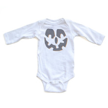 Jack O' Lantern - Halloween White Long Sleeve Baby Bodysuit