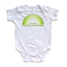 The Irish Invented the Rainbow - Cute Short Sleeve Saint Patrick's Day Baby Bodysuit