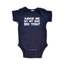 Judge Me By My Size Do You Nerd Humor Short Sleeve Baby Bodysuit
