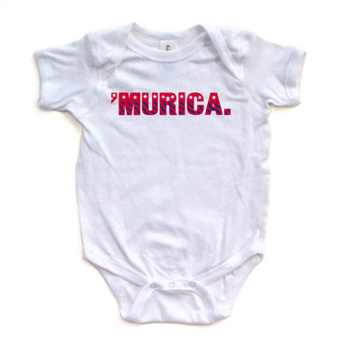 "Funny Baby ""'Murica"" Fourth of July Independence Day Bodysuit"