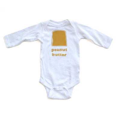 Long Sleeve Halloween Costume or Twins Idea - Peanut Butter and Jelly Set  sc 1 st  Apericots.com & Long Sleeve Halloween Costume or Twins Idea - Peanut Butter and ...