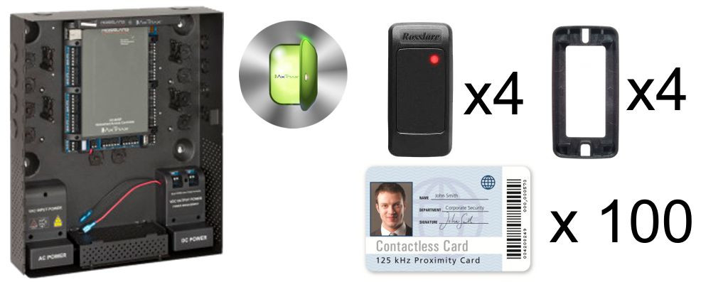 Rosslare Four Door Access Control Kit AC-K16U