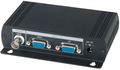 VGA to Composite Video BNC Converter, Dual Output to BNC and VGA, Output PC DVR on LCD TV loopout