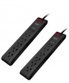 Pack of 2 power strips of 6 outlets