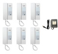 Commax 6 Stations Interphone System Set with Power Supply