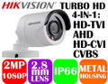 Hikvision HD1080p 4-in1 HD-TVI/AHD/HD-CVI/CVBS IR Bullet Camera DS-2CE16D0T-IRF