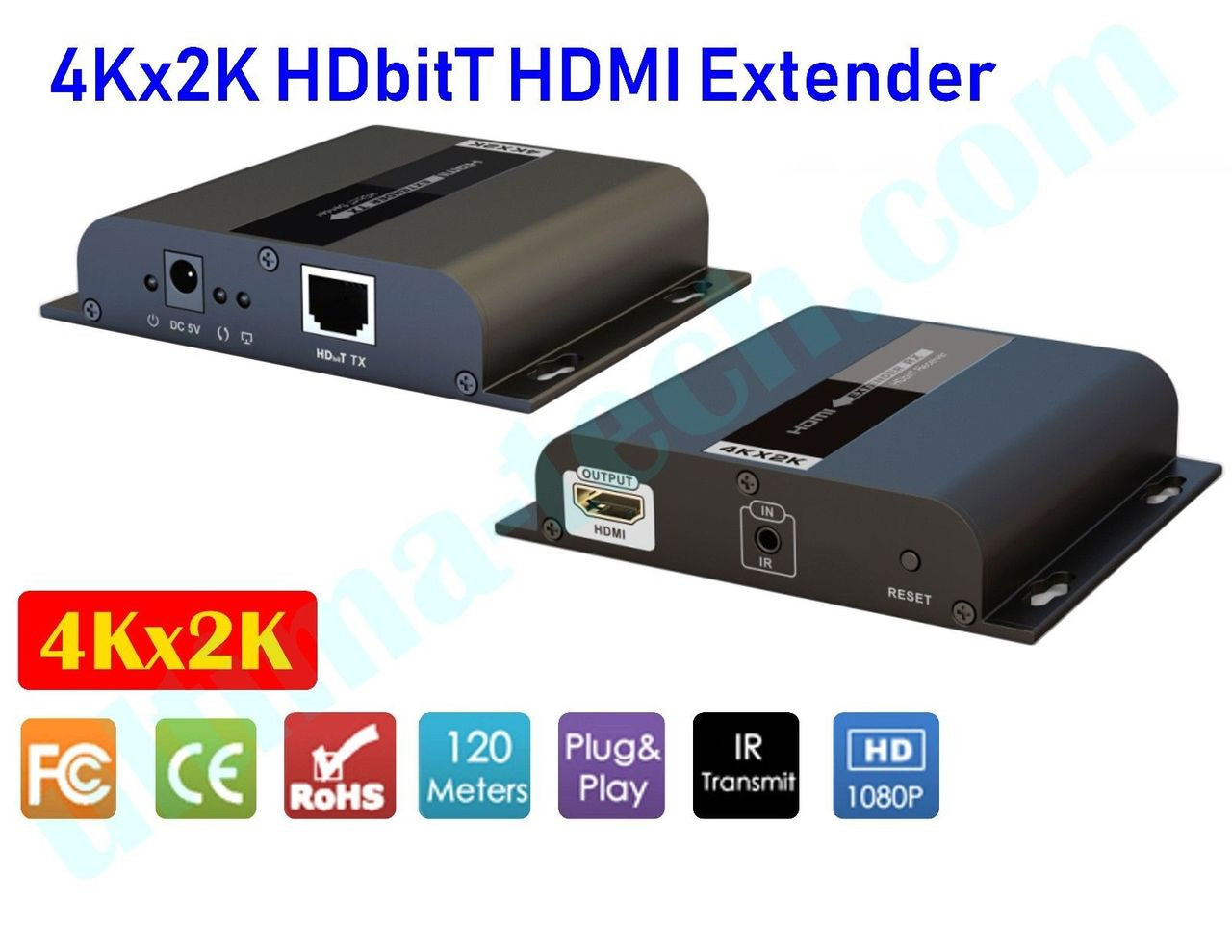 4kx2k Hdbitt Hdmi Ir Extender Up To 120m Over Ip Cat5 Cat5e Cat6 Repeaters Transmitter Circuit Schematic Image 1