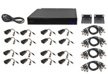 16 Channel Kit to Send Voltage (36 Vdc - 12 Vdc) and HD Video