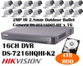 HIKVISION 2MP 16CH TURBO HD CCTV BUNDLE