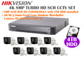 Hikvision 4K 8MP Turbo HD Analog CCTV System: 8MP 8CH DVR + 4TB HDD + 4K Mini-Bullet Cameras x8