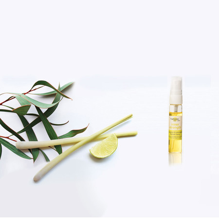 Eucalyptus & Lemongrass Inner Strength Refresher Spray for use with the corresponding Inner Strength T Spheres set.