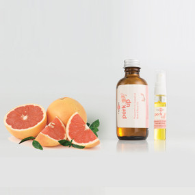 Peppermint & Pink Grapefruit Perk Up Bath & Body Oil can be used in or after bath, applied directly on skin, hair & face, for use in massage and used for refilling your refresher spray for the T Spheres set.