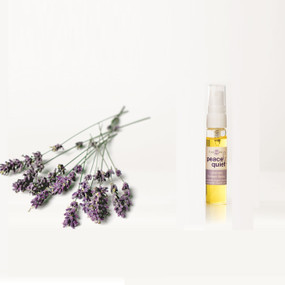 Lavender Peace & Quiet Refresher Spray with the corresponding Peace & Quiet T Spheres set.