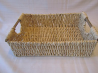 Hand Woven Husk Basket Medium 16x11x5