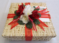 I love you basket can be wrapped for Valentine's Day or any  special day.