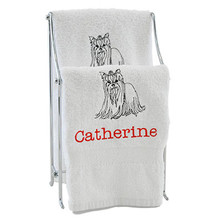 Personalized Yorkie Hand Towel