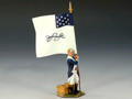AR065  Standing Flag Bearer By King & Country (RETIRED)