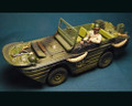 HB009b  Amphibious GPA Jeep Green & Black Camo by Honour Bound (RETIRED)