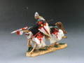 MK049  Charging Crusader with Lance Mounted by King and Country (RETIRED)