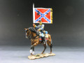 CW004  Confederate Flagbearer Mtd by King and Country (RETIRED)