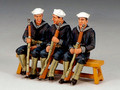USN013  Three Sitting Sailors by King and Country (RETIRED)