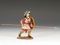 AG005.  Hoplite with Long Spear (horizontal) by King and Country (RETIRED)