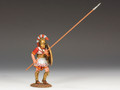 AG006.  Hoplite with Long Spear (45 degrees) by King and Country (RETIRED)
