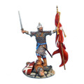 CRU026 Mamluk Leader with Captured Flag Standing on Fallen Crusader by First Legion