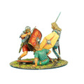 ROM025 German Warrior Charging Imperial Roman Vignette by First Legion