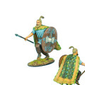 ROM029 German Warrior Charging with Spear and Quilted Cape by First Legion