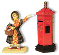 D031  Young Kate Nickleby and Post Box by King & Country (Retired)