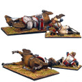 NAP0249 French 5th Cuirassiers Dazed Trooper and Downed Horse by First Legion