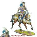 REN035 French Mounted Knight with Sword #1 by First Legion