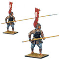 SAM012a Ashigaru Standing with Nagae Yari and Tatami-do Armor - Oda Clan by First Legion (RETIRED)