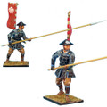 SAM012b Ashigaru Standing with Nagae Yari in Jingasa helmet - Oda Clan by First Legion (RETIRED)