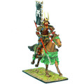 SAM025 Mounted Samurai Charging with Yari and Sashimono - Takeda Clan by First Legion (RETIRED)