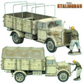 VEH007 Opel Blitz Truck Winter Version with Bonus Figure by First Legion