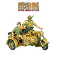DAK015 German BMW R75 Motorcycle Combination - 15th Pz. Division Recon by First Legion