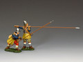 PnM-S005 Crouching and Presenting Pikeman (Royalist) by King and Country