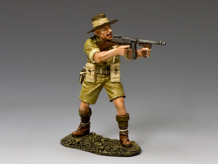 EA098 Aussie Officer with Tommy Gun by King /& Country RETIRED