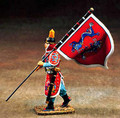 CA06  Marching Regimental Flagbearers Red by King & Country (Retired)