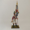NAP013 British 43rd Foot Light Infantry Officer with Kings Colours by Cold Steel Miniatures