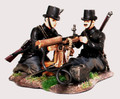 W1-1409  Belgian Maxim Machine Gunner and Maxim and No. 2 set by Empire Military Min.